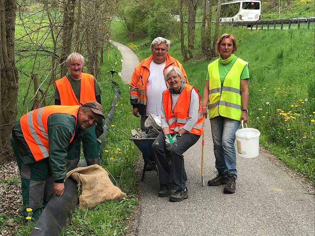 GSI-Mitarbeiter und Mitglieder des BUND Heckengäu